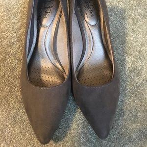 LifeStride Sevyn Grey Heels, Like New